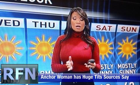 News anchors with big tits