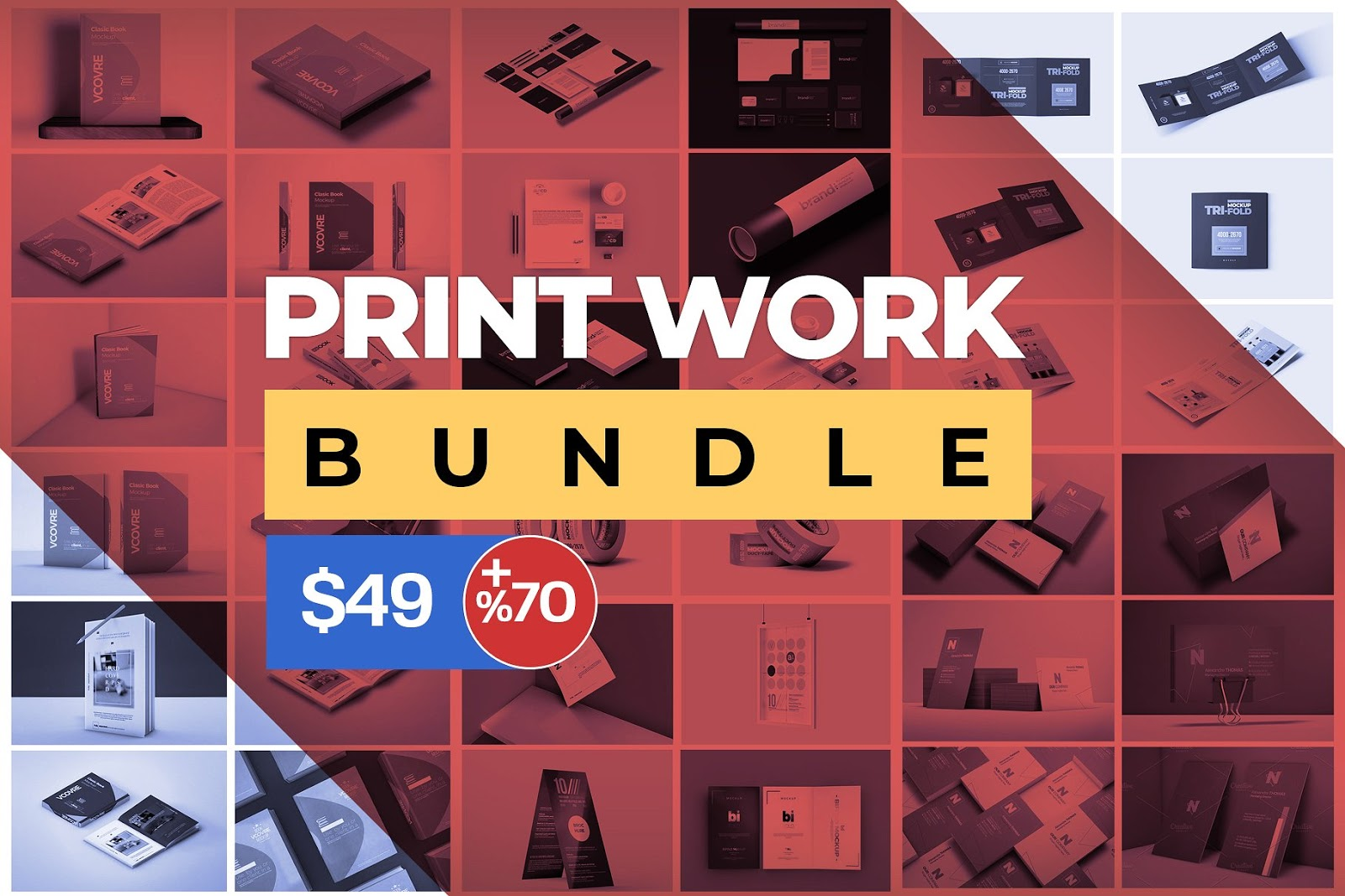 Print Work Mockup Bundle