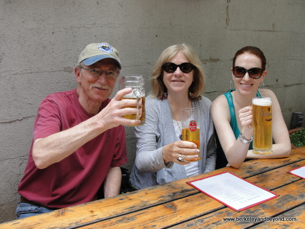 biergarten at Loreley Restaurant & Biergarten on Rivington Street in NYC's Lower East Side