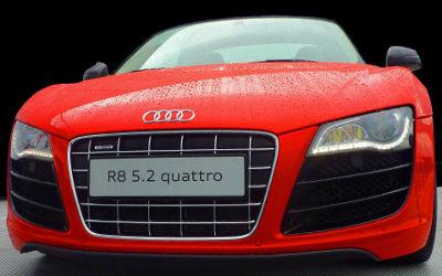 Audi R8 5.2 Quattro Rouge - Fond d'écran en Full HD 1080p
