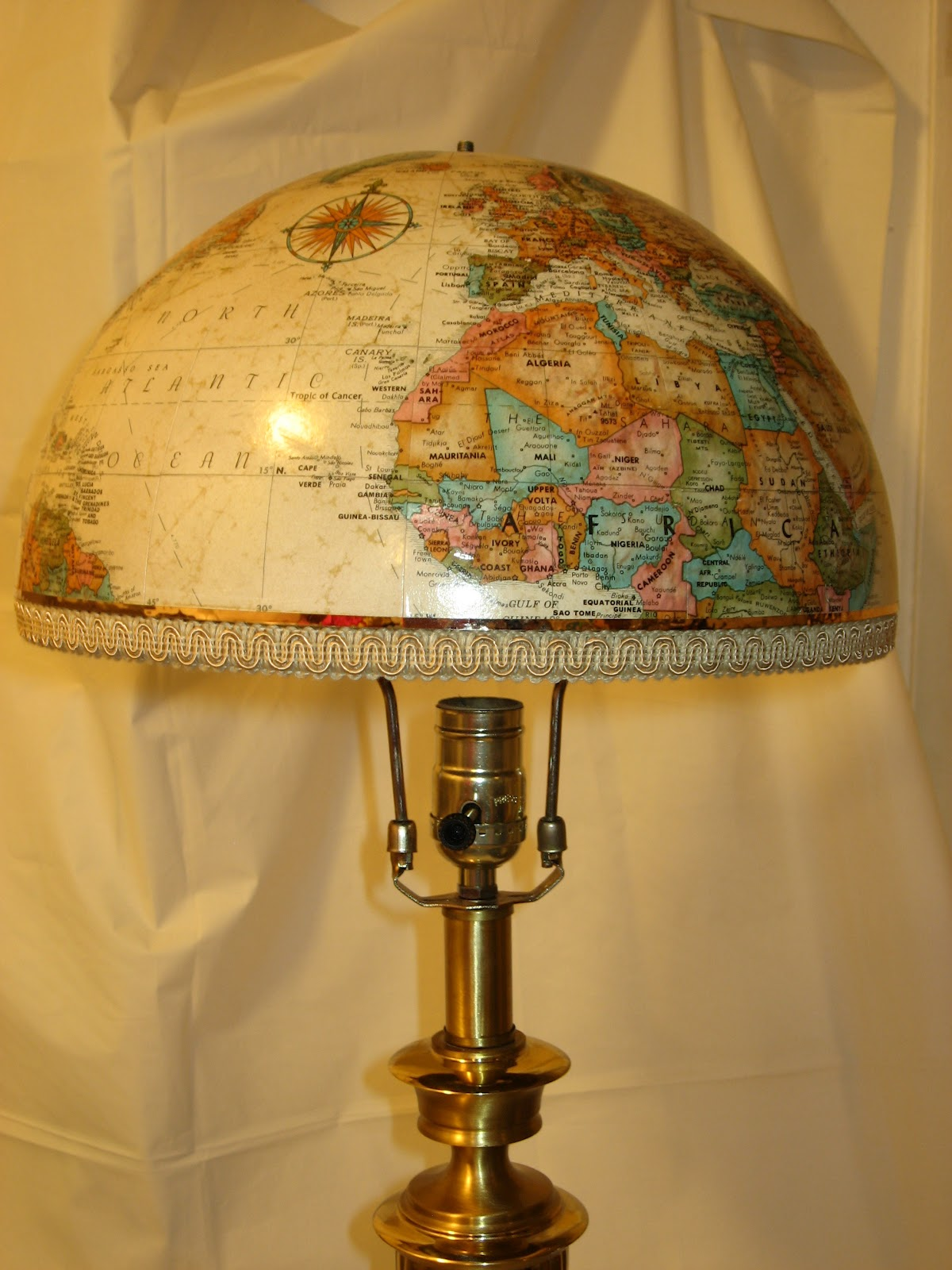 Tulip Ceiling Fan Re Covered Treasures Blog World Globe Lampshades And Bowls