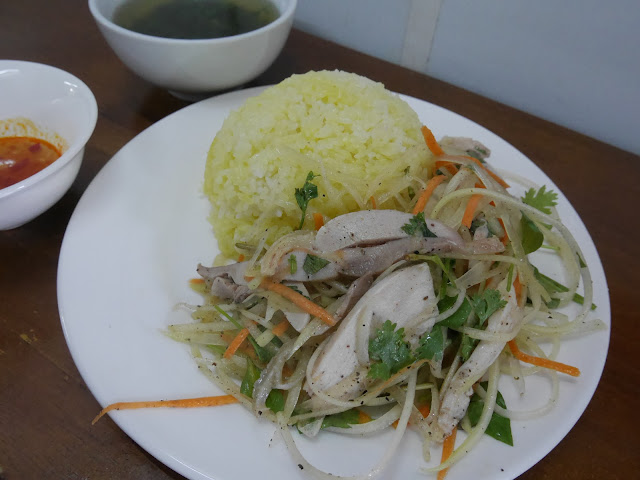 Delicious  Cơm gà or chicken rice, Hanoi Old Quarter