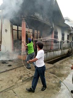 Satu Unit Rumah Permanen Ludes Terbakar,TKP Medan Area