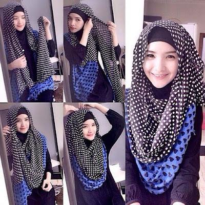 Model hijab untuk wajah bulat dan pipi tembem