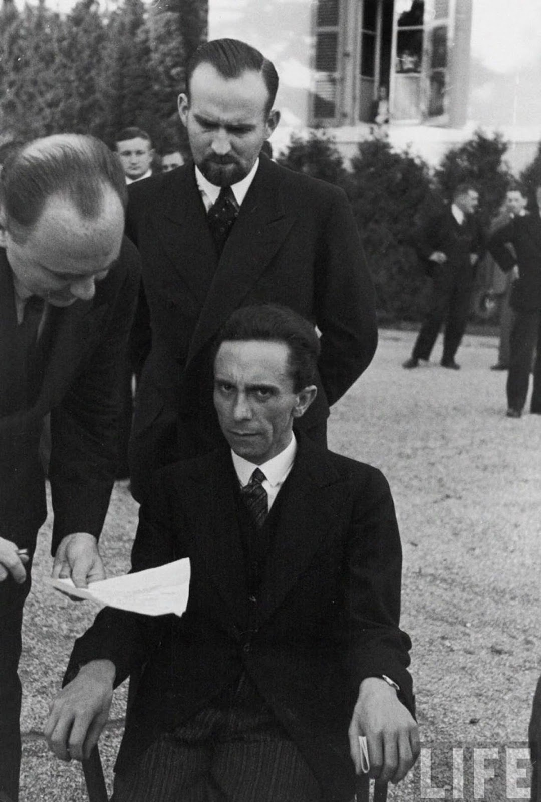 Goebbels smiled at him until he learned that Eisenstaedt was Jewish – a moment Eisenstaedt captured in this photo.