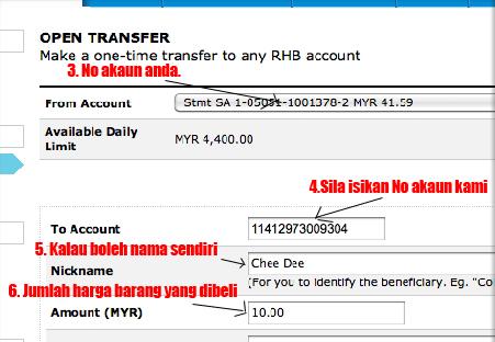 Cara Membuat Pembayaran Ke akaun RHB Yang Menggunakan RHB
