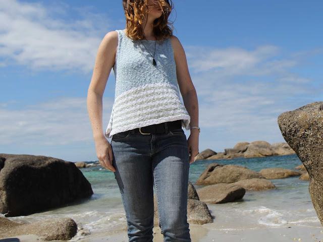 Top à bretelles au tricot