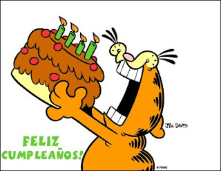 feliz cumpleaños garfield tarta