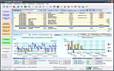 Ymsoft Comptes Bancaires - Logiciel de Gestion de Compte sur Windows