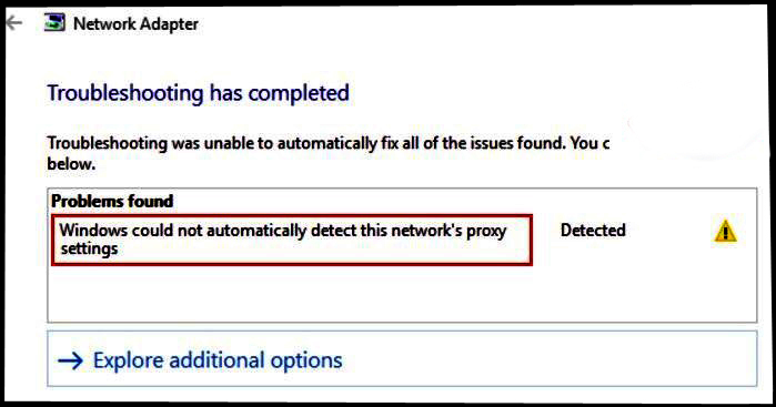 windows 10 network adapter error