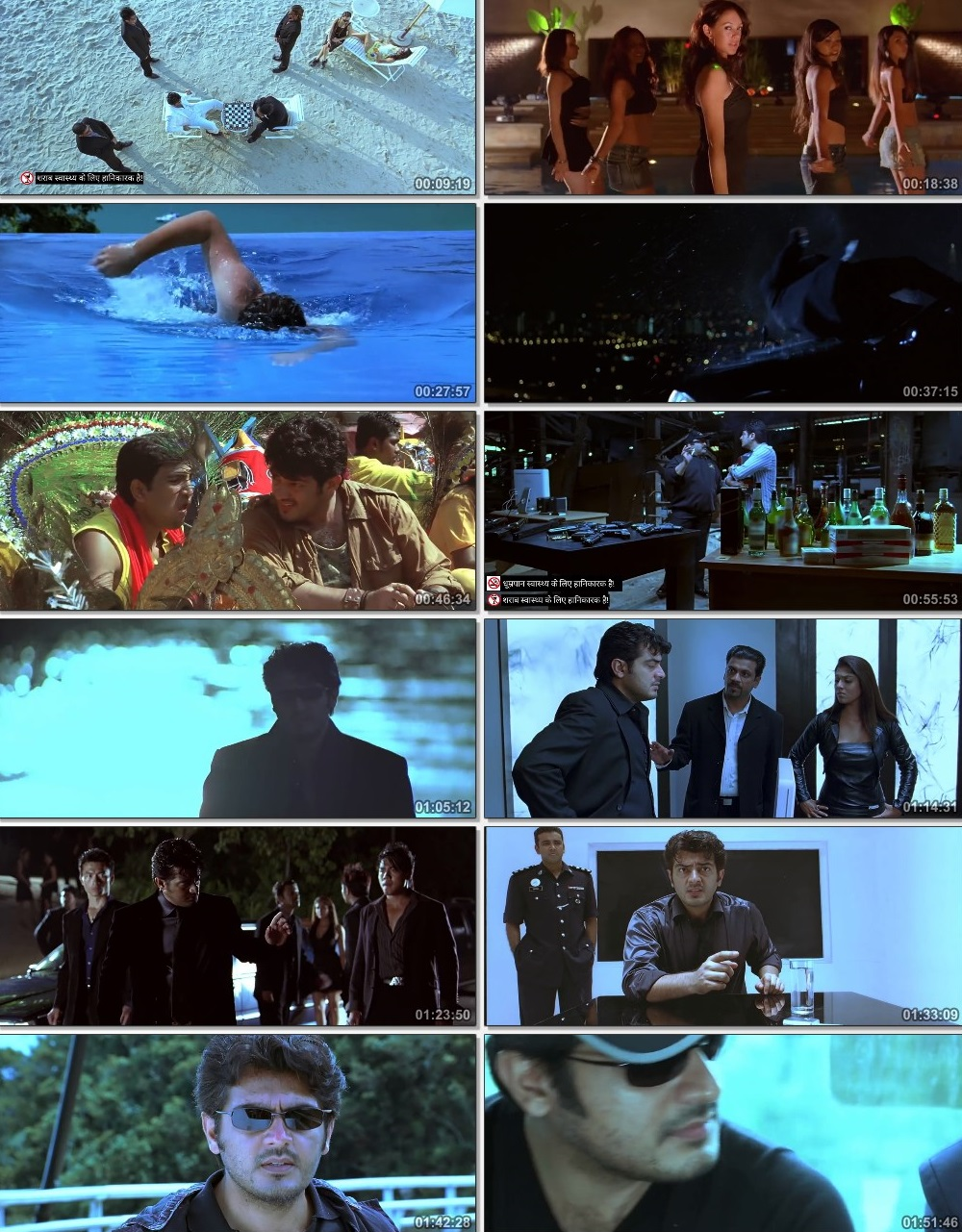 Screen Shot Of Billa 2007 300MB Full Movie Hindi Dubbed Free Download 480P HDRip Small Size PC Movie