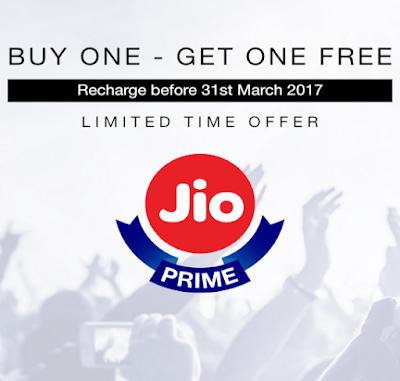 Reliance Jio Prime Recharge Offer brings you 4G Data at Rs 8/GB for 1 year 1
