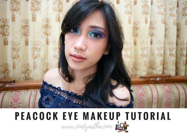 Peacock Eye Makeup Tutorial With INEZ COSMETICS Bahasa
