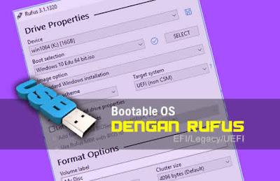 Cara Buat Flashdisk Bootable Windows10 Pada Rufus Untuk BIOS UEFI