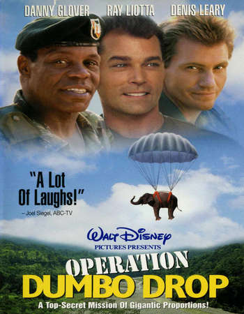 Poster Of Operation Dumbo Drop 1995 Hindi Dual Audio  300MB    Free Download Watch Online world4ufree.org