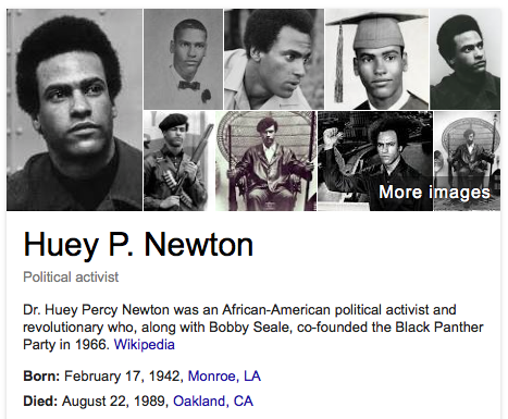 Image result for black panther's co-founder huey newton killed
