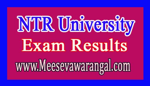NTR University of Health Sciences BUMS Entrance Test 2016 Exam Result