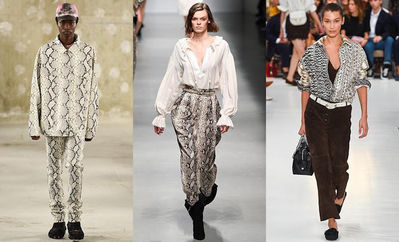 змеиный принт, принт питона и леопардовый, принт зебры, коровы и жирафа в одежде