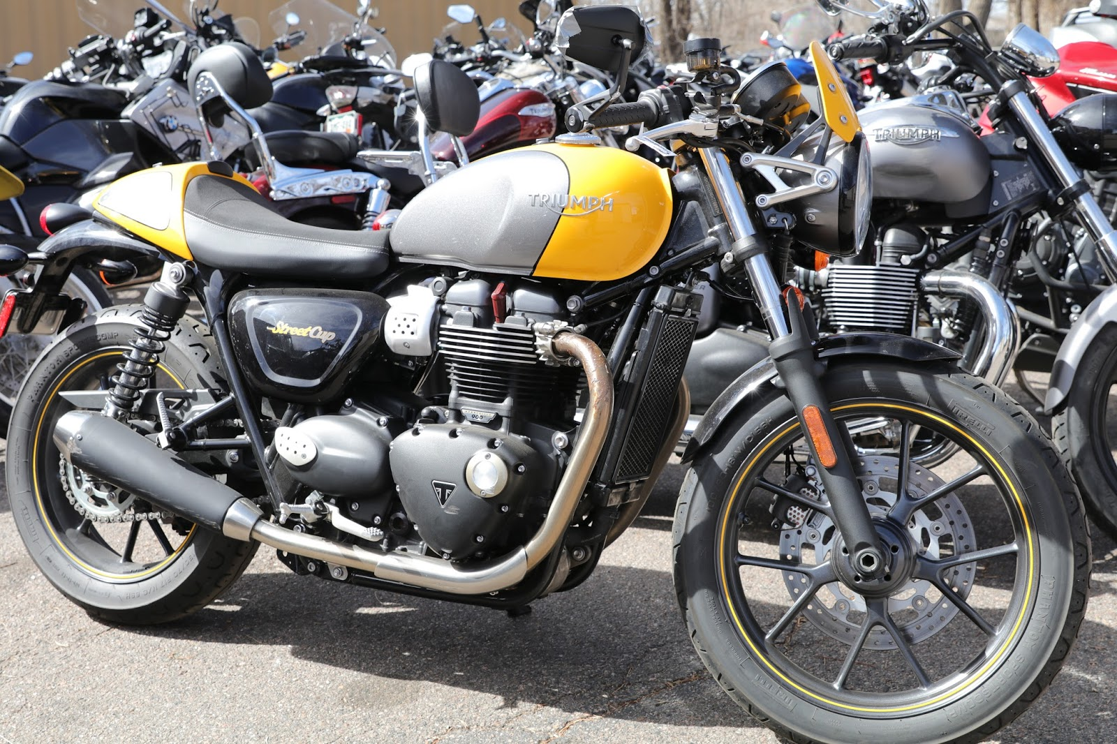OldMotoDude Triumph Bonneville Cafe Racer Parked At The 2018