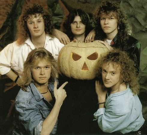 Helloween con calabaza en 1987