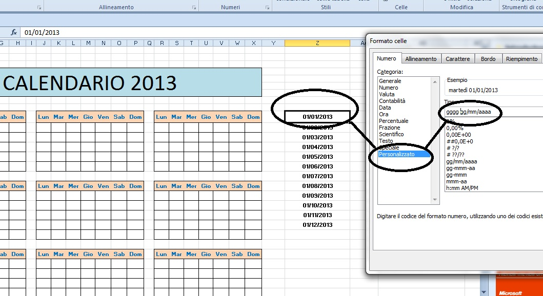 Fare Un Calendario Con Excel.Excel Easy Excel Facile Come Fare Un Calendario Con Excel