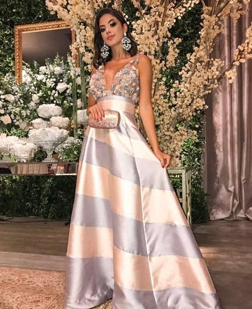 vestido longo estilo princesa para formanda ou madrinha de casamento