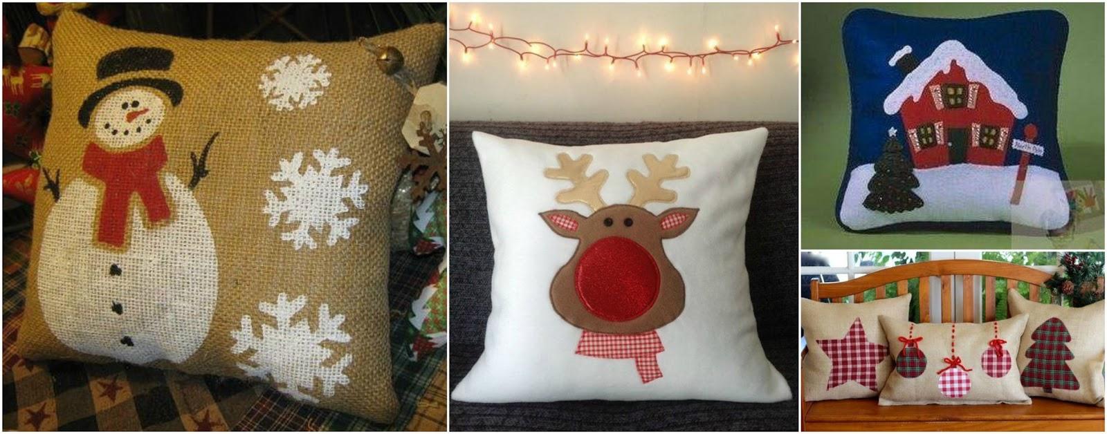 Ideas f ciles para hacer 7 hermosos cojines navide os decorativos belleza y peinados - Modelos de cojines decorativos ...