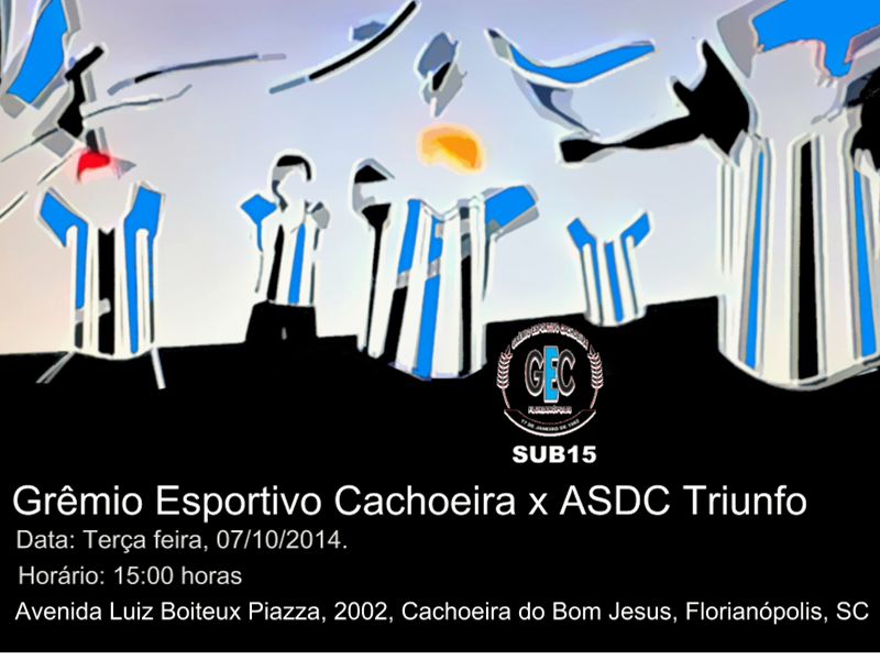 Nesta terça (07) o Grêmio Cachoeira joga pela SUB15