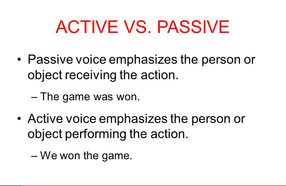 paper rater: passive voice vs active voice