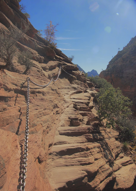Chain On Trail Up Angels Landing, Zion National Park
