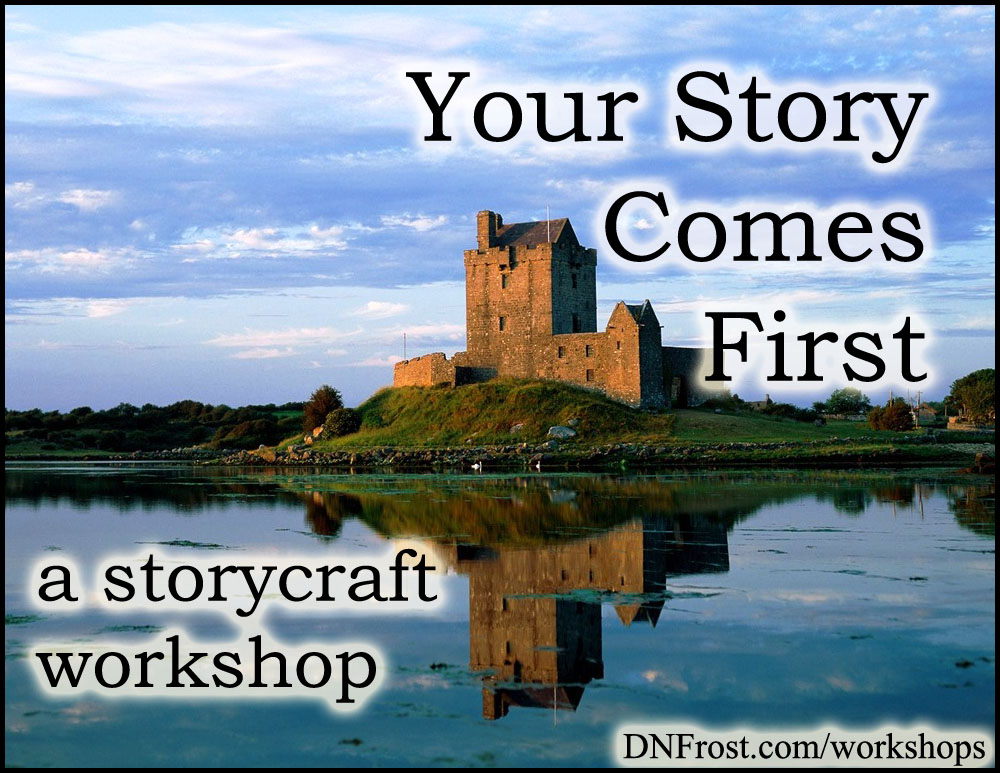 Your Story Comes First: the basics of a great story http://www.dnfrost.com/2016/01/your-story-comes-first-storycraft.html A storycraft workshop by D.N.Frost @DNFrost13 Part of a series.