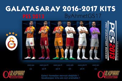 PES 2013 – Galatasaray Kits – 2016/2017 – (ByAhmetGS17)