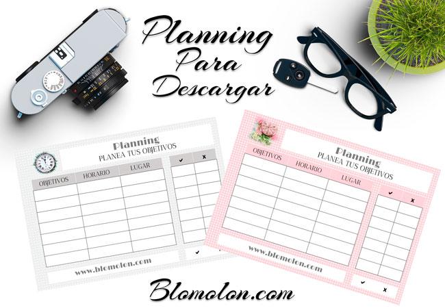 planning para descargar