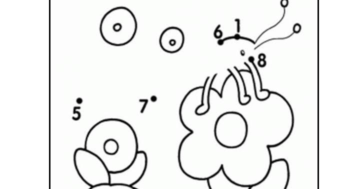 Aktiviti Menyambung Ik Nombor Menjadi Gambar Bunga Genius Kids Zone