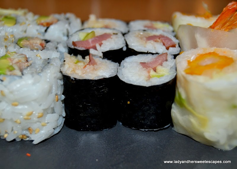 Smoked Duck rolls at Sushi Counter Dubai