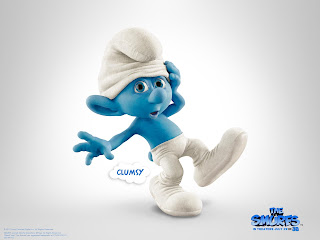 dancing Smurf The Smurfs 2011 animatedfilmreviews.filminspector.com