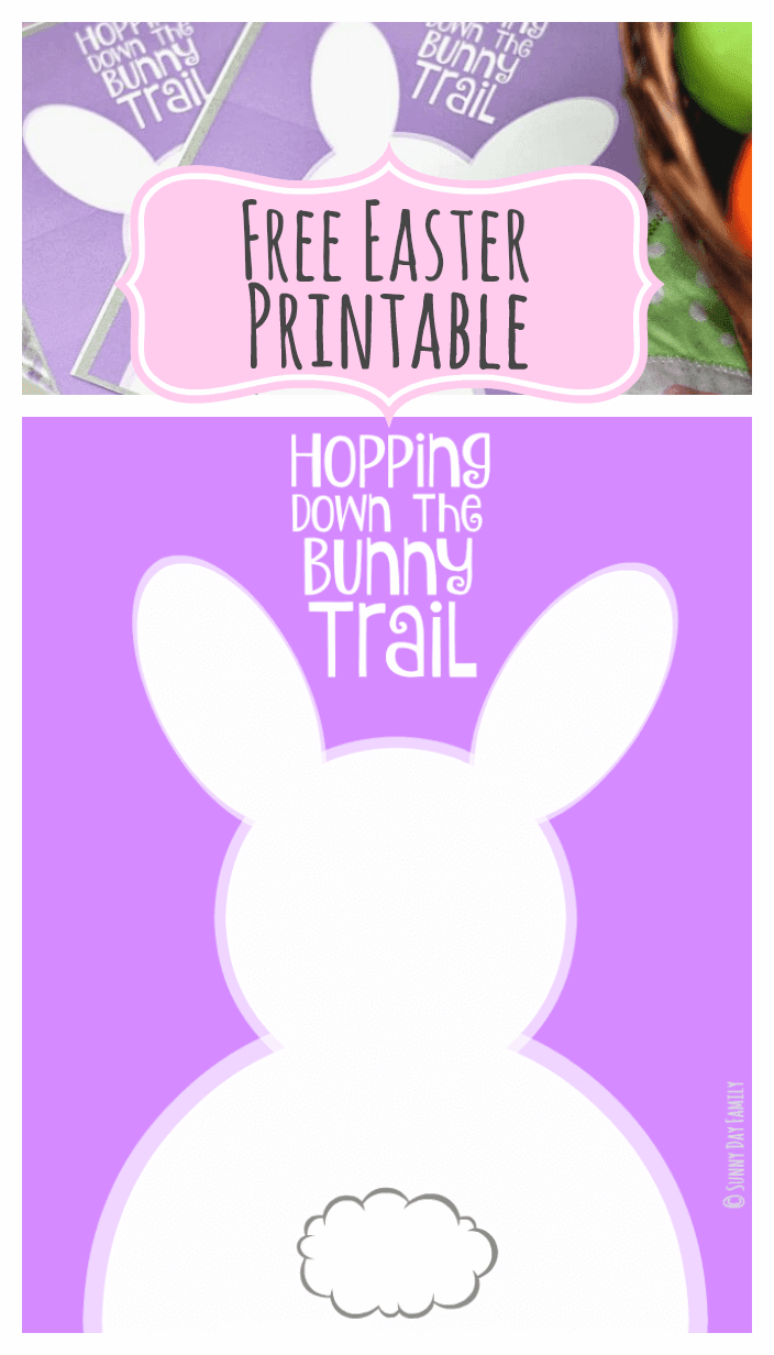 Add a touch of Spring to your home with these free Easter printables! Two sizes for a free Easter decoration or printable bunny themed Easter cards.