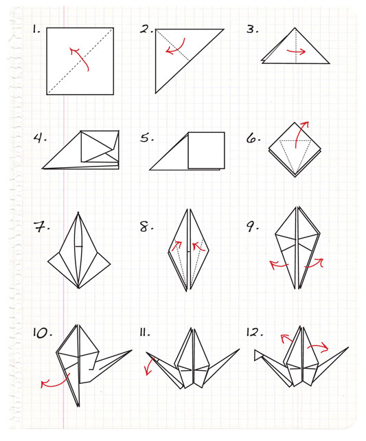Origami Crane With Gum Wrapper