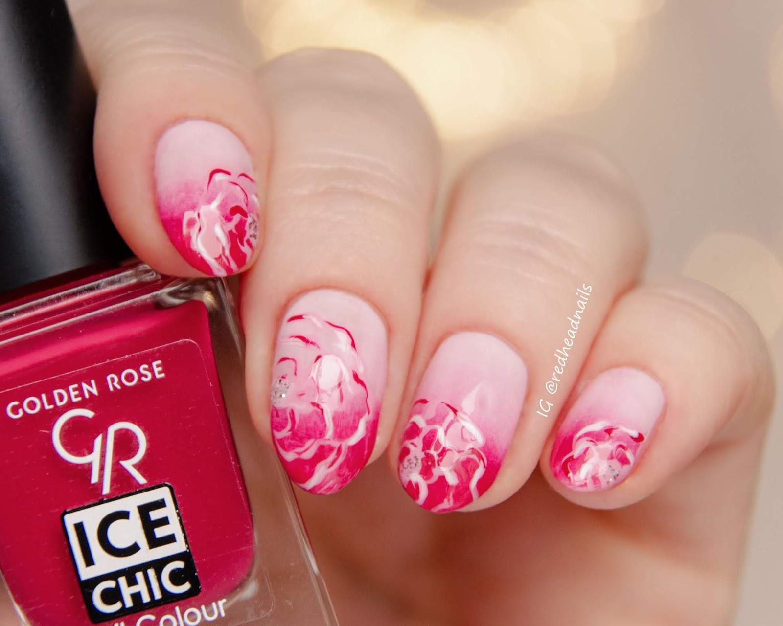 Różowy gradient z Golden Rose