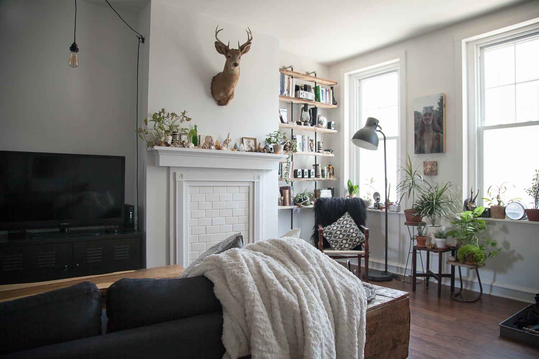Modern Interior Decor DIY Subway Tile Mantle