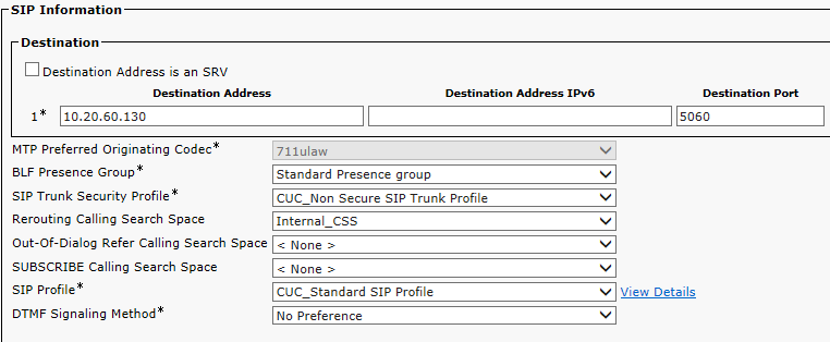CUCM SIP Integration with Cisco Unity Connection | Voice in Peace VIP