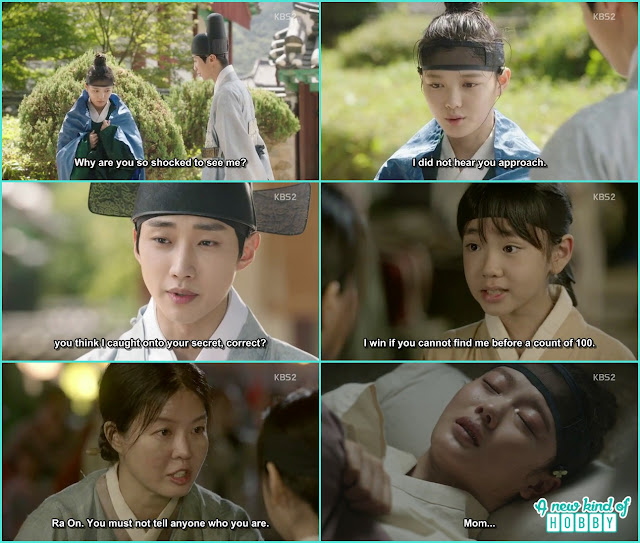 yong sung ask ra on he will share the secret with her  and ra on cried in her dream to see her mother leaving her - Love in The Moonlight - Episode 5 Review
