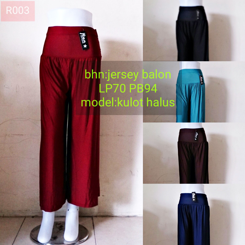 Celana Kulot Katun Polos Dan Motif Terbaru Murah Grosir Rok Cewek Jersey Panjang Model