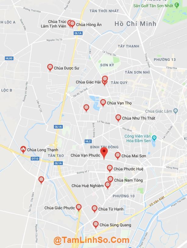 Ở Bình Tân có nhiều ngôi chùa đẹp của Sài Gòn