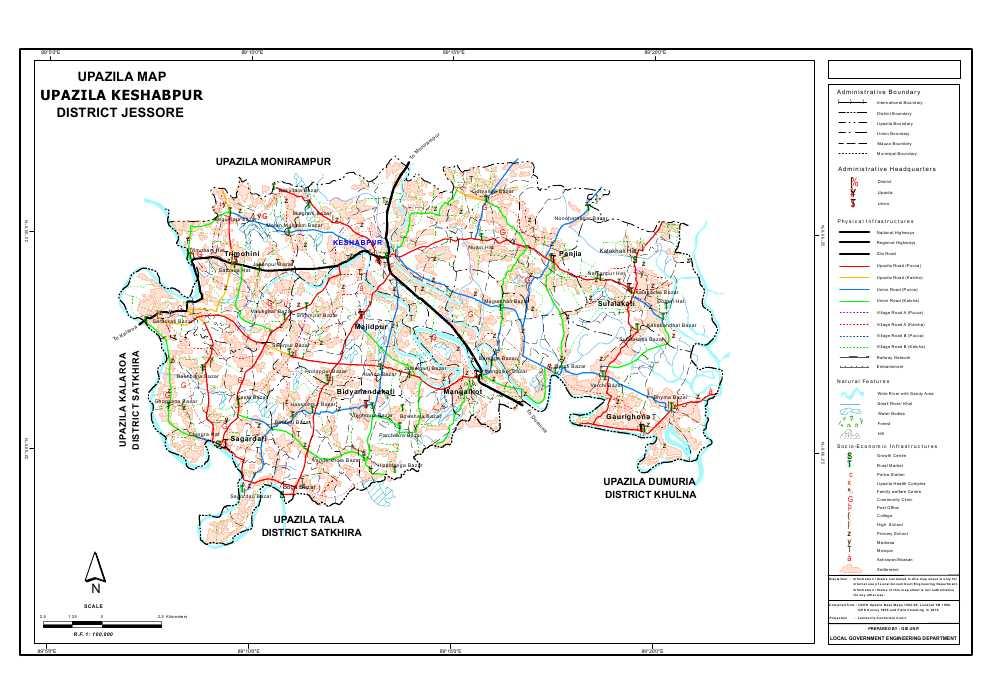 Mouza Map & 3 Detailed Maps of Keshabpur Upazila, Jessore