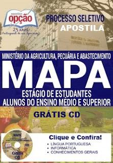 Apostila processo seletivo MAPA - Estágio