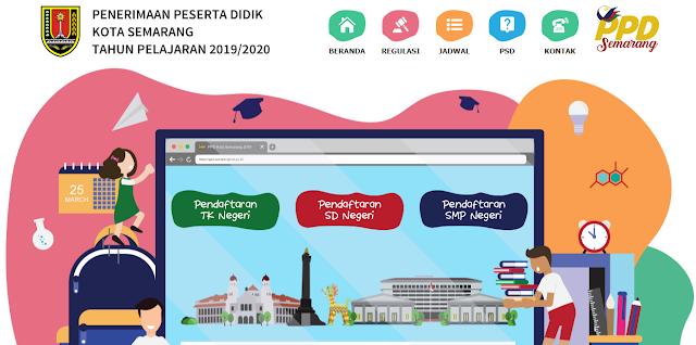 Website PPDB Online Kota Semarang Tahun Pelajaran 2019/2020