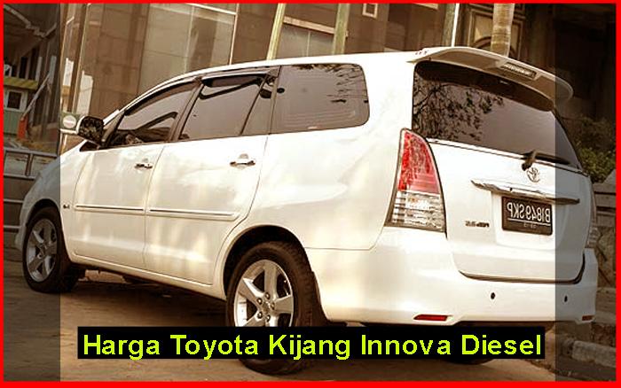 spesifikasi all new kijang innova diesel ukuran grand avanza veloz dan harga toyota spirit zhunda