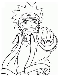 Sketsa Mewarnai Gambar Kartun Naruto 20163