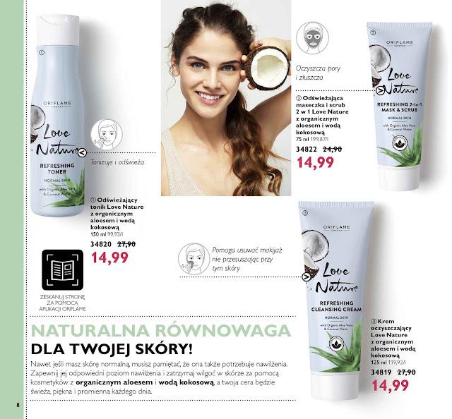 Naturalne kosmetyki z wodą kokosową do twarzy